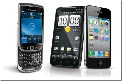 android iphone blackberry