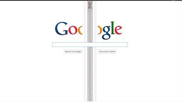 Doodle Google Cremallera