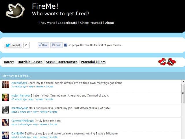 fire me twitter