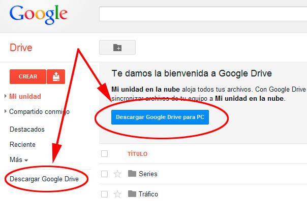 como instalar google drive