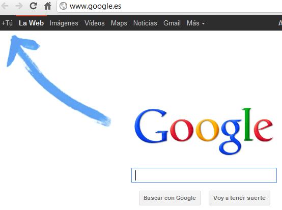 flecha google plus