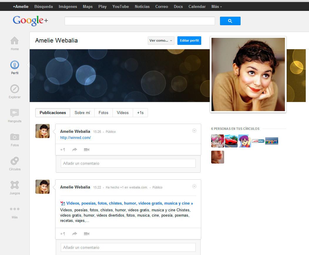 Nuevo perfil de Google Plus