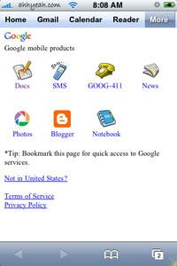 Google más opciones