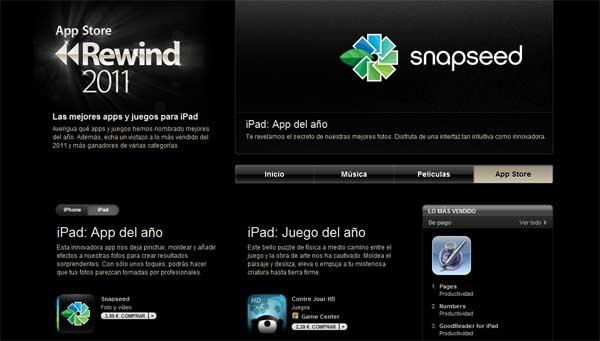 mejores aplicaciones apple 2011