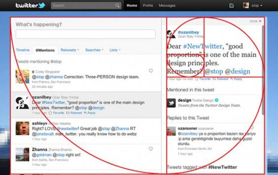 composición twitter respeta la divina proporción