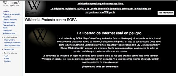wikipedia contra ley sopa